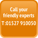 Call your friendly experts on 01527 910050